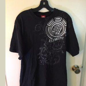 Elements black graphic t-shirt